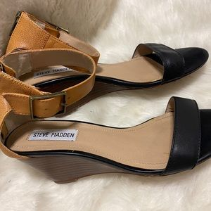 Steve Madden Wedge Heels with Ankle Strap